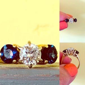 Diamond & Sapphire Ring (engagement ring)